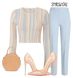 A fashion look from March 2018 featuring stripe top, tapered pants and stilettos shoes. Browse and shop related looks. Teen Fashion Outfits, Classy Outfits, Fashion Pants, Chic Outfits, Womens Fashion, Before Wedding, Teenager Outfits, Complete Outfits, Elegant Outfit