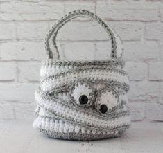 OMG this is adorable! Halloween CROCHET PATTERN instant download Crochet Mummy