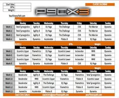 P90X3 Calendar - Classic. Order P90X3 here: http://www.teambeachbody.com/shop/-/shopping/BCPX3205?referringRepId=303690