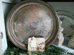 Vintage Etched Silver Plated Tray by shabbychatue on Etsy, $14.00