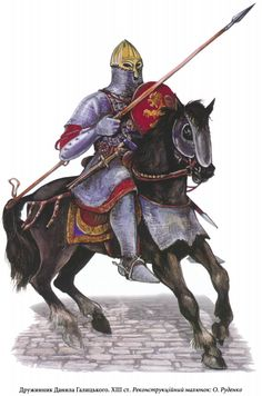 The druzhinnik of the army of Daniil of Galitsky, century. Viking Armor, Medieval Knight, Fantasy Armor, Anglo Saxon, Fantasy Inspiration, Character Portraits, Historical Pictures, Byzantine, Fantasy Characters