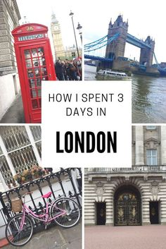 3 DAYS IN LONDON