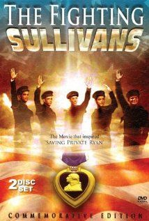 The Fighting Sullivans, 1944, Anne Baxter, Thomas Mitchell, Selena Royle.  True story of life of five brothers who served together and died together in WWII .