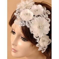 Hanmade Gorgeous Lace Satin Wedding/Special Occasion Flowers/Fascinators - USD $ 17.49