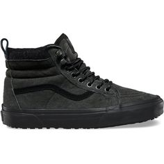Vans Women's Sk8 Athletic ($83) ❤ liked on Polyvore featuring shoes, leather hi tops, cushioned shoes, high top leather shoes, real leather shoes and hi tops