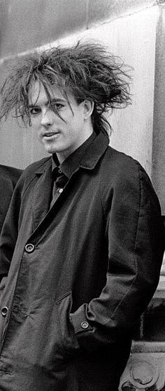 Robert Smith in his favorite trench coat