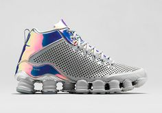 "The Nike Shox TLX Mid ""Iridescent"" is available now: http://www.kixandthecity.com/Ap2AN"