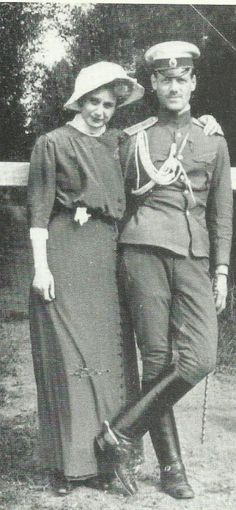 her-imperial-highness: Michael alexandrovich with his wife Natasha