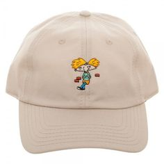 HEY ARNOLD Adjustable Dad Hat Classic Nickelodeon Cartoons One Size Fits  All NEW 267d9beeefde