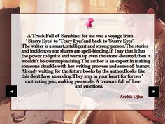 A review of my book by Goodreads' #1 Book Reviewer, Archit Ojha, a young super achiever. Thank you Archit, for this heartening and honest review.  Read the full review here : https://thisandthatbooks.wordpress.com/2018/04/13/a-trunk-full-of-sunshine-by-sapna-dhyani-devrani/