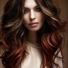 hair light brown and red - Google Search