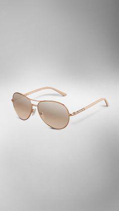 Burberry Nude Classic Aviator Sunglasses