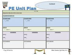 PE UNIT PLAN TEMPLATE - 5 MULTI-TOPIC PLANNING GUIDES - TeachersPayTeachers.com