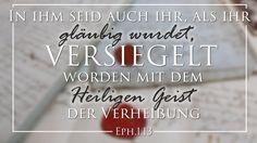 Download Epheser 1,13: In ihm seid auch ihr, als ihr gläubig wurdet, versiegelt worden mit dem Heiligen Geist der Verheißung