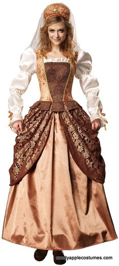 Deluxe Adult Lady Renaissance Costume - Candy Apple Costumes