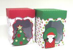 Caixa de Natal com Mini Panetone - Scrap