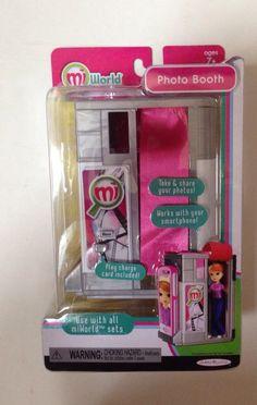 MiWorld Photo Booth Playset Mini Miniature Mi World  Jakks Pacific New #JakksPacific
