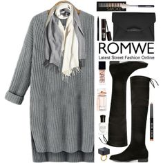Romwe by oshint on Polyvore featuring moda, Givenchy, Forever 21, NARS Cosmetics, Bobbi Brown Cosmetics, Urban Decay, Balenciaga, Deborah Lippmann and romwe
