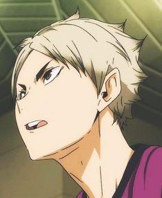 Semi eita <<< ohh uhh discount suga is actually kind of hot Kagehina, Kuroo, Kenma, Haikyuu Ships, Haikyuu Anime, Hinata, Semi Eita, Haruichi Furudate, Volleyball Anime