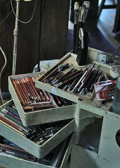 (Original as re-pinned) Debi Fitzgerald's Pastel Pencils