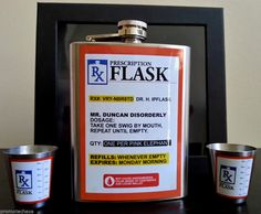 RX PRESCRIPTION FLASK GIFT Box SET Metal 2 Shot Glasses NIB Whiskey Liquor Drink . 30% OFF SALE! FREE US SHIPPING! Hundreds of fun, unique & beautiful items on sale in our ebay store: www.TerminusCity.com