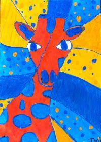 Meet The Creative Part of Me : Giraffer i kontrastfarver