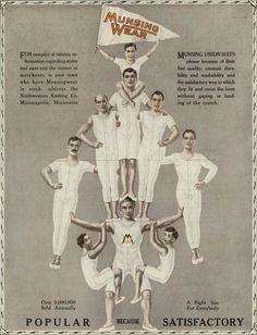 """Popular because Satisfactory"" Early men's underwear ad via Collector's Weekly"