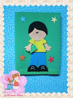 Capa caderno grande em E.V.A disponível nas cores das imagens. R$ 11,20