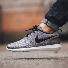 Nike Roshe NM Flyknit - Wolf Grey/Black