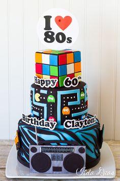 Birthday Cake Ideas Black Silver And Gold Jpg 236x354 Happy 80s Theme