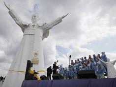Giant Pope John Paul II statue in Poland