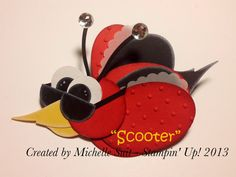 "Meet ""Scooter"" - A NEW Suitably Punched Critter #punchart #stampinup #diy #cards #disneysuitsme.blogspot.com"