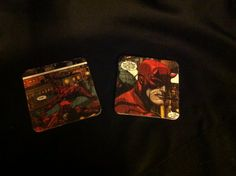 Daredevil comic book coasters  by EJcrafting on Etsy, $12.00