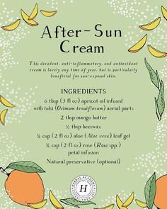 Simple and easy remedies for sunburn and summer heat for the whole family. Many of these remedies are probably in your kitchen right now! Natural Health Remedies, Herbal Remedies, Natural Medicine, Herbal Medicine, Sunburn Remedies, Cold Remedies, Herbal Magic, Natural Treatments, Natural Healing