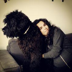 Kron (6 months old) & Mimolena Black Russian Terrier