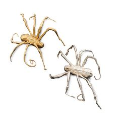 Spider brooches in silver and gold by LOUISE BOURGEOIS 2005