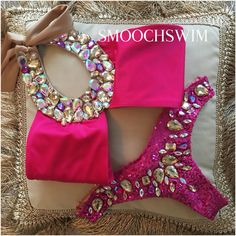"""Manhattan""   A twist on our Paris kini, now with low rise sequin crystal bottoms (you can still order high waisted if you want )  Www.HOUSEOFSMOOCH.com • Avail in an array of pretty colours"