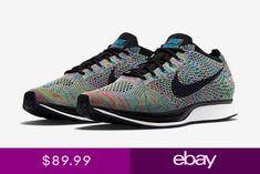 best sneakers 798fb 53133 Nike Flyknit Racer Multi Color 2.0 Green Strike Black Blue 526628 304.  eBay. Scarpe Da ...