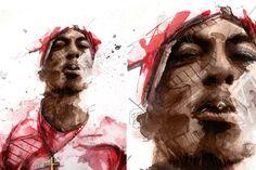 2Pac by Jeremy Kyle, via Behance