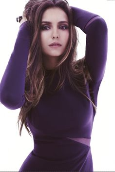 Love the colors in this photo. Nina Dobrev for Fashion Magazine, #VantToBiteMyNeck #OPIEuroCentrale