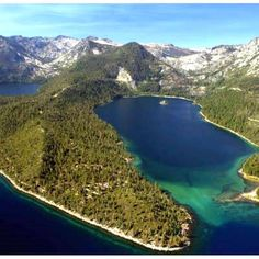 Emerald Bay -- used to picnic here. Once upon a time...