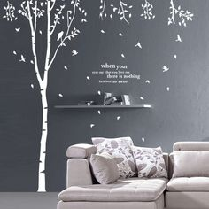 1000 images about chambre bebe on pinterest stickers - Stickers arbre chambre fille ...