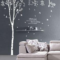 Grand arbre creux mur bâton oiseaux. 90976 blanc, stickersductilité dans de sur Aliexpress.com