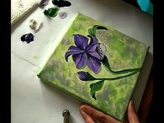 Acrylmalerei Ratgeber, lila Blüte malen
