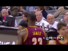 LeBron James Blocks Derrick Rose |Knicks vs Cavaliers |February 23, 2017...