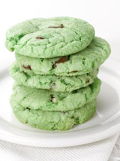 Mint Chocolate Chip Cookies, yum :)