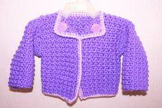 Purple Chanel Inspired Crochet Baby Sweater by BlissfulFiber, $18.50