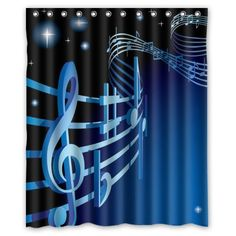 """Fantastic Music Culture Cool Music Notes Shower Curtain 60""""x72"""" Inches 100% Waterproof Polyester Fabric Bath Curtain,Shower Rings Included Creative Shower Curtain http://www.amazon.com/dp/B00O0CV7RY/ref=cm_sw_r_pi_dp_UWW6vb0D8FW57"""