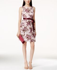 Adrianna By Adrianna Papell Sleeveless Printed Lace Dress - Dresses - Women - Macy's