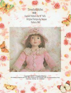 18 Inch Dolls Crochet Pattern 82 by ThreadsnStitchesUSA on Etsy, $4.99